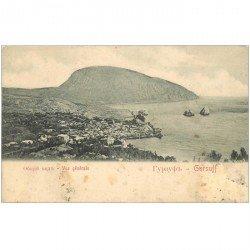 carte postale ancienne RUSSIE. Gursuff vue générale vers 1900