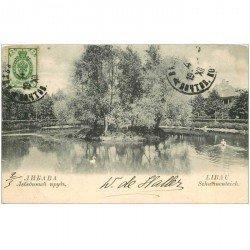 carte postale ancienne RUSSIE. Libau Schwanenteich vers 1904