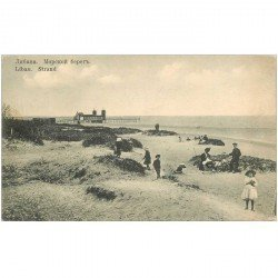 carte postale ancienne RUSSIE. Libau Strand 1919