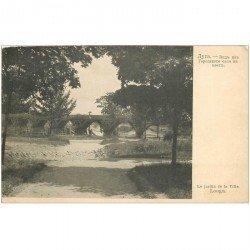 carte postale ancienne RUSSIE. Louga. le Jardin de la Ville