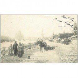 carte postale ancienne RUSSIE. Moscou 1901 La Moscowa et attelage par Bouchard 1901