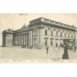 carte postale ancienne RUSSIE. Odessa Hôtel de Ville 1906