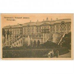 carte postale ancienne RUSSIE. Petograd Grand Chteau de Péterhof