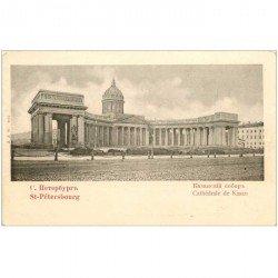 carte postale ancienne RUSSIE. Saint Pétersbourg. Cathédrale de Kasan vers 1900
