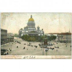 carte postale ancienne RUSSIE. Saint Pétersbourg. Cathédrale Saint Isaac 1905