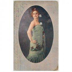 carte postale ancienne RUSSIE. Valentina Kachouba. Artiste des Ballets Russes. Carte postale ancienne