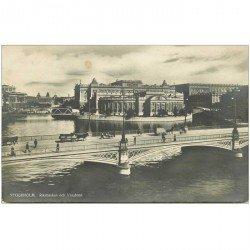 carte postale ancienne SUEDE. Stockholm. Riksbanken och Vasabron