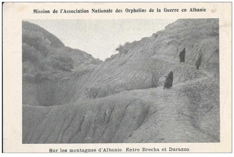 carte postale ancienne ALBANIE. Entre Brecha et Durazzo. Mission des Orphelins de la Guerre