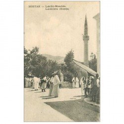 carte postale ancienne BOSNIE. Mostar Moschée