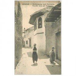carte postale ancienne BOSNIE. Mostar Stadtausgang