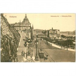 carte postale ancienne BULGARIE. Budapest. Döbrentey tér Platz