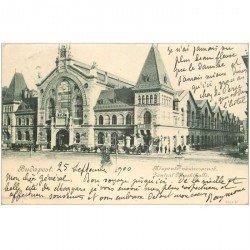 carte postale ancienne BULGARIE. Budapest. Zentral Markthalle 1900