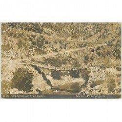 carte postale ancienne BULGARIE. MACEDOINE. Carte photo Kresvna le Pont