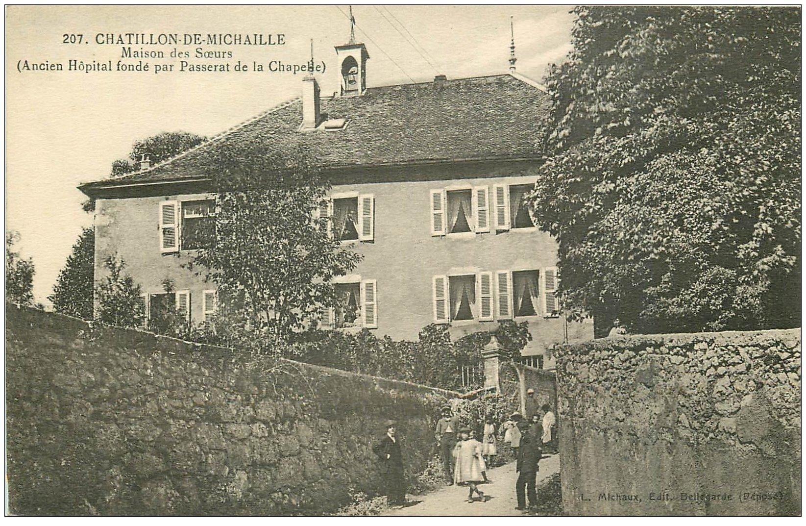 carte postale ancienne 01 Chatillon-de-Michaille. Maison des Soeurs. Hôpital ancien