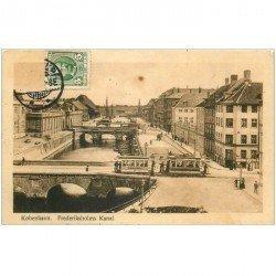 carte postale ancienne DANEMARK DANMARK. Kobenhavn. Frederiksholms Kanal 1911
