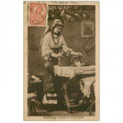 carte postale ancienne ROUMANIE. Rumänische Schöne in Volkstracht 1920
