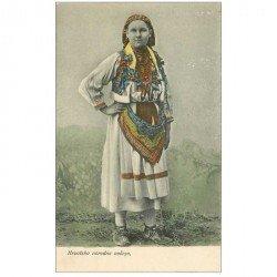 carte postale ancienne SERBIE. Femme en Costume traditionnel