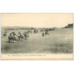 carte postale ancienne 14 DEAUVILLE. Le Polo, l'Arrivée des Poneys. Sport équestre