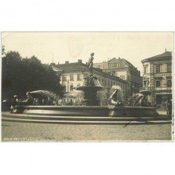 carte postale ancienne FINLANDE FINLAND. Helsinki Helsingfors 1919. Une Fontaine Photo carte postale