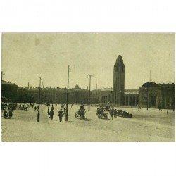 carte postale ancienne FINLANDE. Helsinki. Rautatientori Jernvägstorget 1924. Timbre manquant...