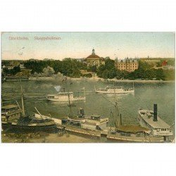 carte postale ancienne NORVEGE NORGE. Stockholm Skeppsholmen 1909