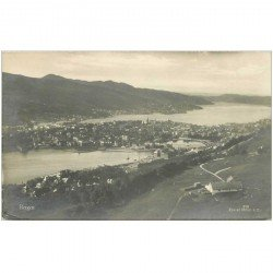 carte postale ancienne NORVEGE. Bergen 1927 Photo carte postale