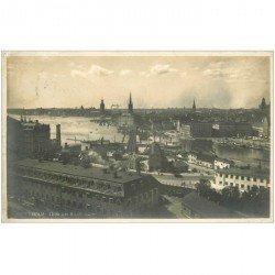 carte postale ancienne NORVEGE. Stockholm Utsikt fran Katarinahissen 1924. Timbre manquant...