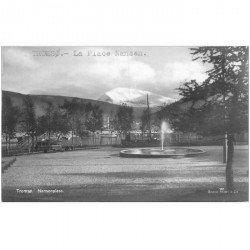 carte postale ancienne NORVEGE. Tromso. Nansenplass la Place Nansen