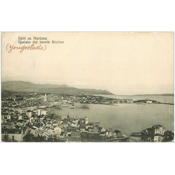 Carte Ancienne Croatie.Croatie Split Sa Marjana 1911
