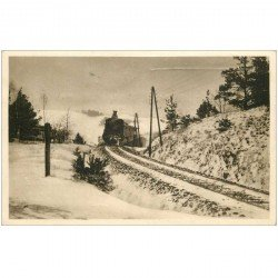carte postale ancienne CROATIE. VANOCNI A NOVOROCNIP. Zimni Mlhou 1939 Locomotive et Train