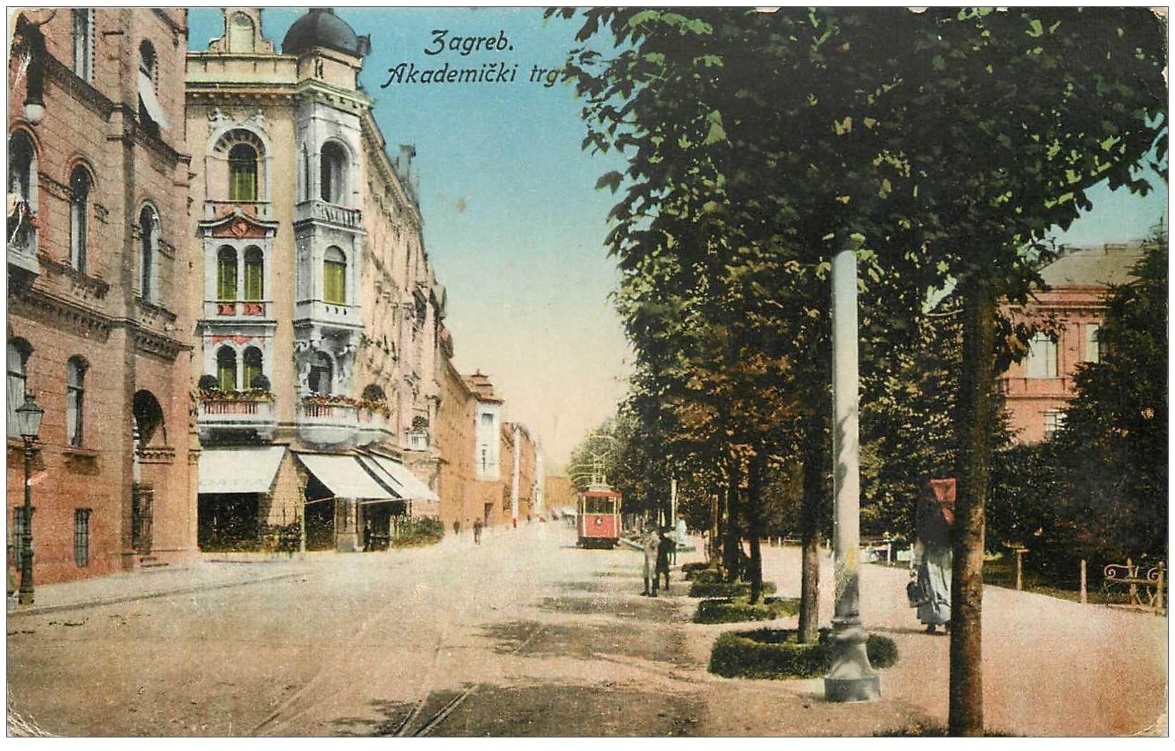 carte postale ancienne CROATIE. Zagreb Akademicki 1940