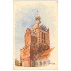 carte postale ancienne POLOGNE POLAND. Cathedral Belfry Voyevodie de Varsovie