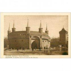 carte postale ancienne POLOGNE POLAND. Krakow Cracovie. Bastion Porte Saint Floryan