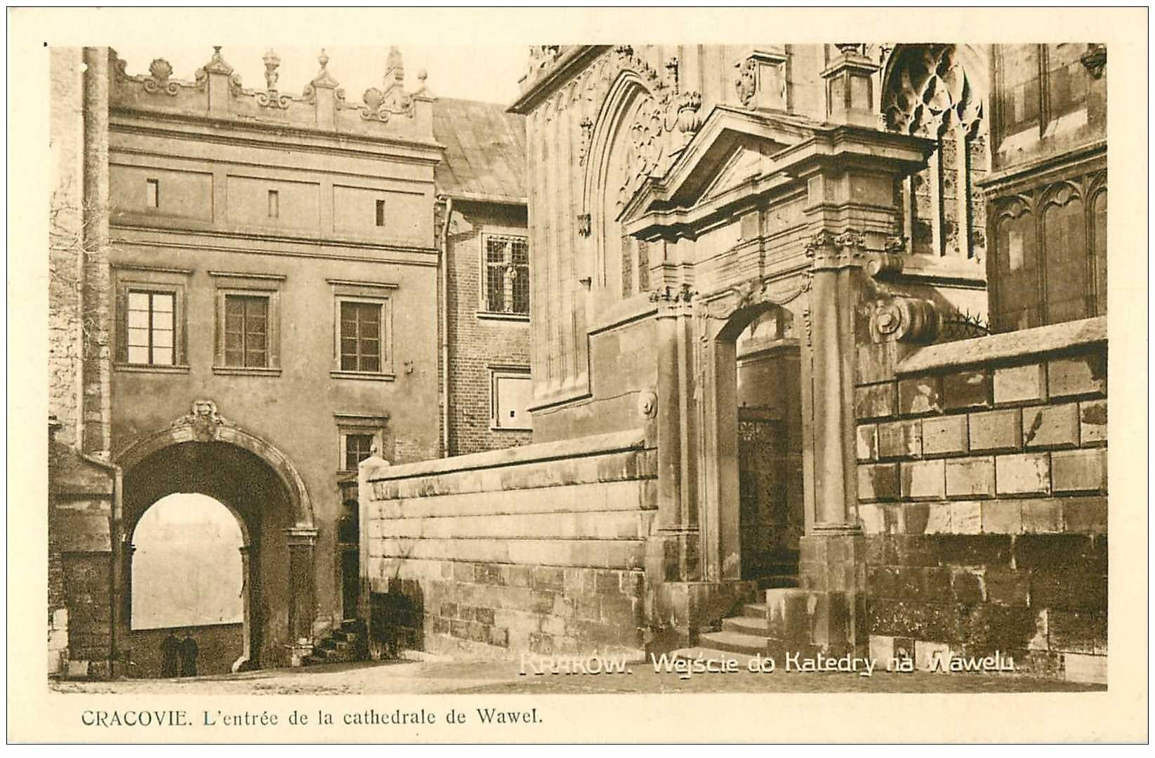 carte postale ancienne POLOGNE POLAND. Krakow Cracovie. Cathedral Wawel