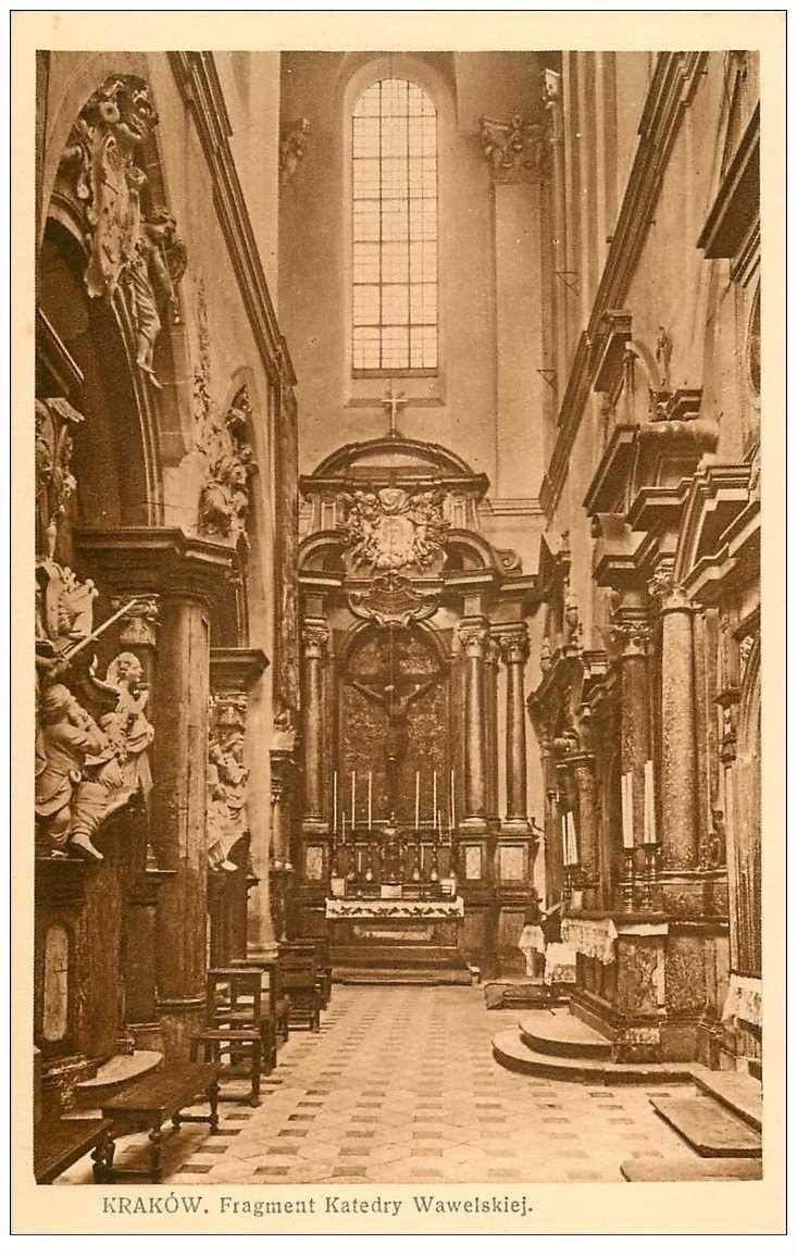carte postale ancienne POLOGNE POLAND. Krakow Cracovie. Katedry Wawelskiej