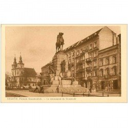 carte postale ancienne POLOGNE POLAND. Krakow Cracovie. Monument Grunwald