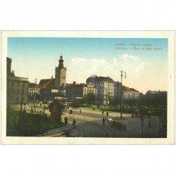 carte postale ancienne POLOGNE POLAND. Léopol. Place du Saint Esprit