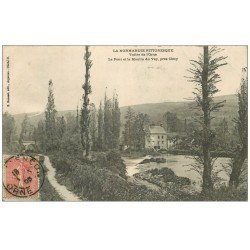 carte postale ancienne 14 VALLEE DE L'ORNE. Pont et Moulin du Vey 1905