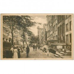 carte postale ancienne POLOGNE. Danzig. Frauengasse mit Sternwarte 1919