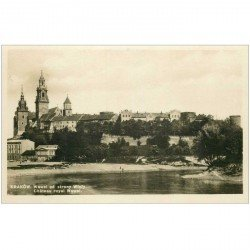 carte postale ancienne POLOGNE. Krakow. Wawel od strony Wisty. Photo carte postale