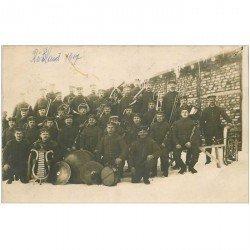carte postale ancienne POLOGNE. Rare la Musique du 260 Régiment Infanterie 1917. Photo carte postale Militaires Rubland