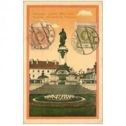carte postale ancienne POLOGNE. Varsovie Warszawa. Monument de Mickiewicz 1924
