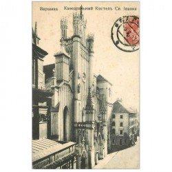 carte postale ancienne POLOGNE. Varsovie. La Cathédrale Saint Jean 1908