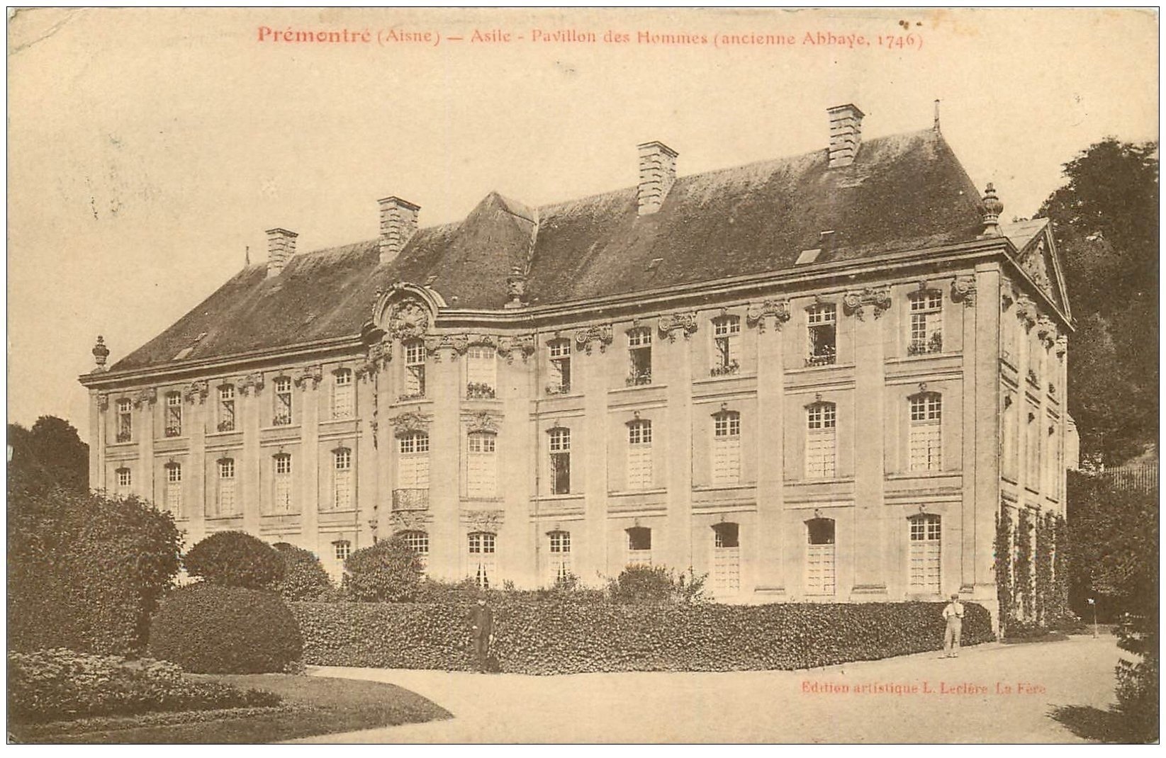 carte postale ancienne 02 PREMONTRE. Asile Pavillon des Hommes
