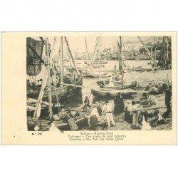 carte postale ancienne PORTUGAL. Lisbao. Ribeira Nova. Une partie du Quai nouveau.