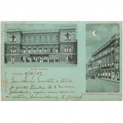 carte postale ancienne ANGLETERRE. Royal Academy à London 1907.