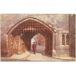 carte postale ancienne LONDON LONDRES. Gateway Bloody Tower. Raphael Tuck Oilette.
