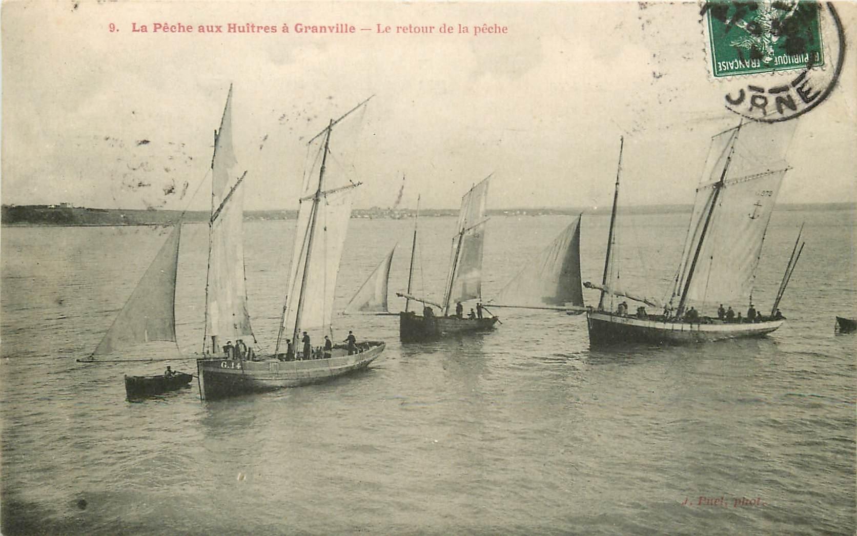 50 GRANVILLE. Le Retour de la Pêche aux Huîtres 1908 n° 9 de la célèbre série
