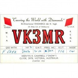 carte postale ancienne CARTE RADIO QSL. Clyde Victoria Australia 1972