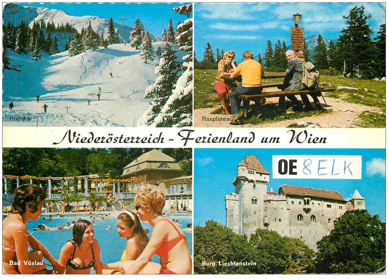 carte postale ancienne CARTE RADIO QSL. Ferienland um Wien 1972